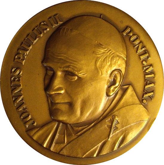 FRANCIA. MEDALLA VISITA JUAN PABLO II A CHASSIEU. 1.986