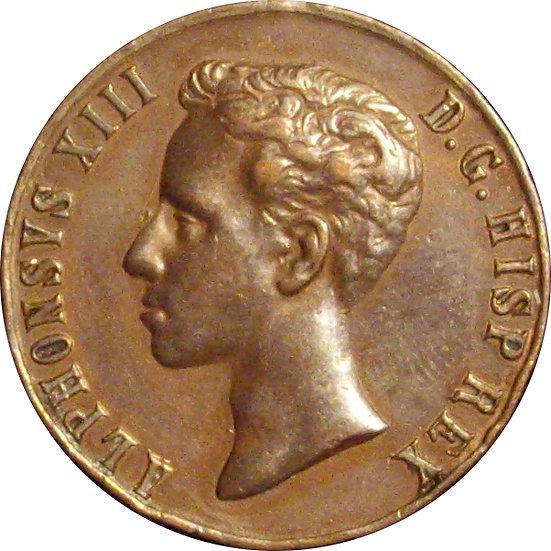 ESPAÑA. ALFONSO XIII. MEDALLA MAYORÍA EDAD. 1.902