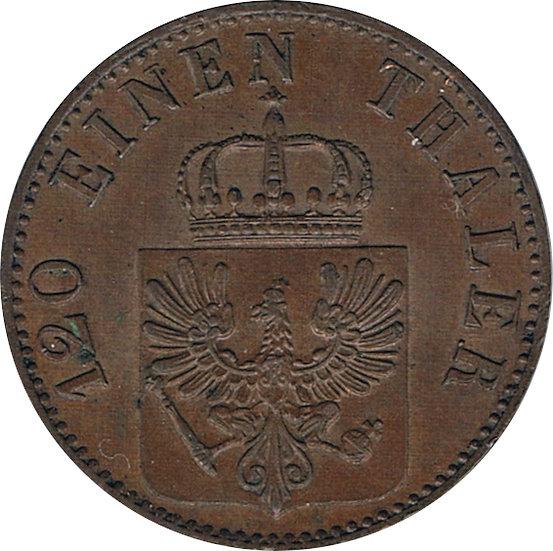 ESTADOS ALEMANES. PRUSIA. 3 PFENNING. 1.865. BERLÍN