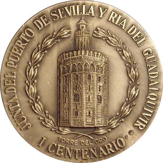 SEVILLA. MEDALLA I CENTENARIO JUNTA DEL PUERTO. 1.972