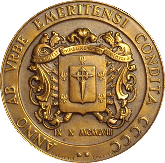 VENEZUELA. MEDALLA IV CENTENARIO FUNDACIÓN MÉRIDA. 1.958
