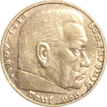ALEMANIA. 5 MARCOS. 1.938. MUNICH