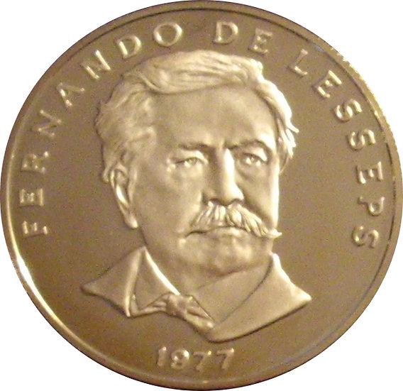 PANAMÁ. 50 CENTÉSIMOS. 1.977. FERNANDO DE LESSEPS