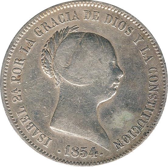 ESPAÑA. ISABEL II.  20 REALES 1.854 SEVILLA