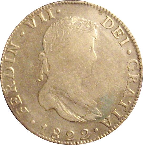 ESPAÑA. FERNANDO VII. 8 REALES 1.822 GUANAJUATO