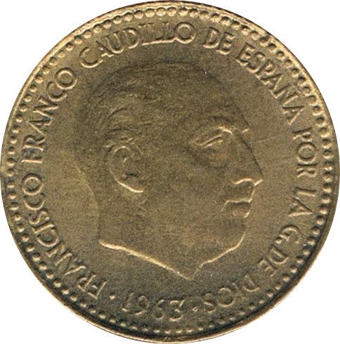 ESPAÑA. FRANCISCO FRANCO. 1 PESETA 1.963 *65