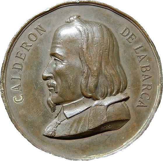 MEDALLA 2º CENTENARIO DE CALDERÓN DE LA BARCA. 1.881
