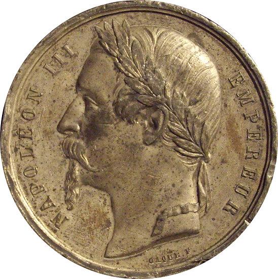FRANCIA. MEDALLA NAPOLEÓN III Y EUGENIA