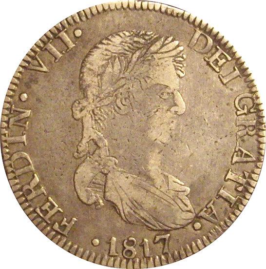 ESPAÑA. FERNANDO VII. 8 REALES 1.817 ZACATECAS