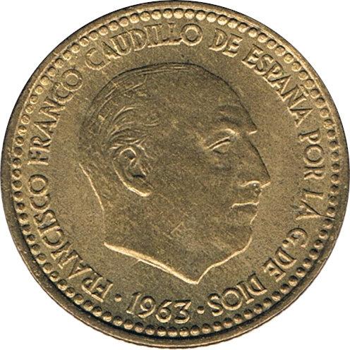 ESPAÑA. FRANCISCO FRANCO. 1 PESETA 1.963 *64