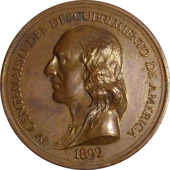 MEDALLA IV CENTENARIO DESCUBRIMIENTO AMÉRICA. 1.892