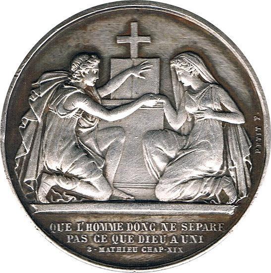 FRANCIA. MEDALLA MATRIMONIAL. 1.879