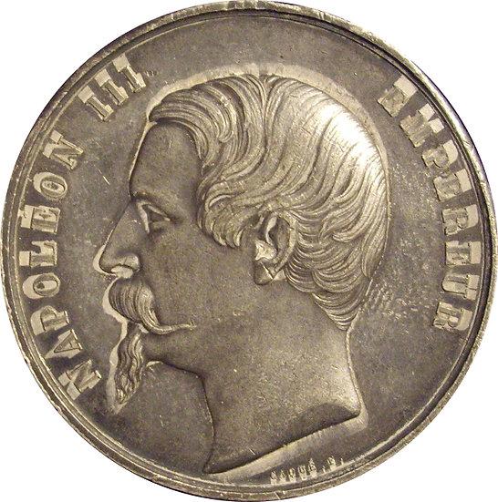 NAPOLEÓN III. MEDALLA EXPOSICIÓN UNIVERSAL. 1.855