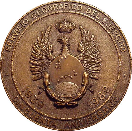 50 ANIVERSARIO SERVICIO GEOGRÁFICO DEL EJÉRCITO. 1.989
