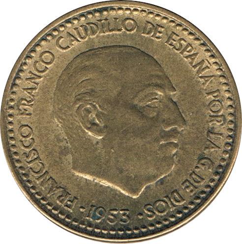 ESPAÑA. FRANCISCO FRANCO. 1 PESETA 1.953 *60