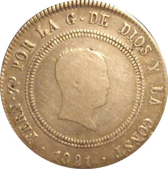ESPAÑA. FERNANDO VII. 10 REALES 1.821 MADRID