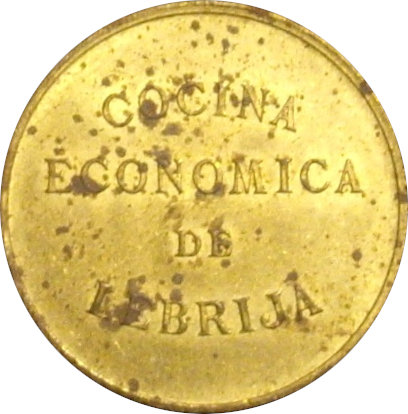 ESPAÑA. COCINA ECONÓMICA DE LEBRIJA. 5 CÉNTIMOS