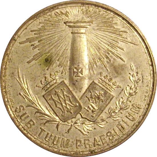 MEDALLA 2º CONGRESO CATÓLICO NACIONAL. ZARAGOZA 1.890