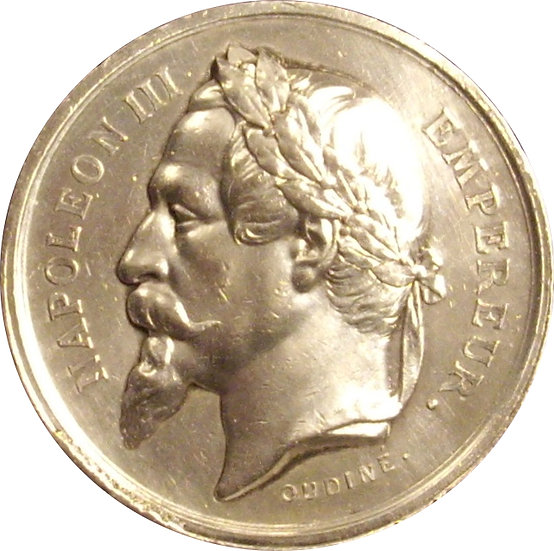 FRANCIA. NAPOLEÓN III. MEDALLA SOCIETÈ SERINOPHILE. 1.868