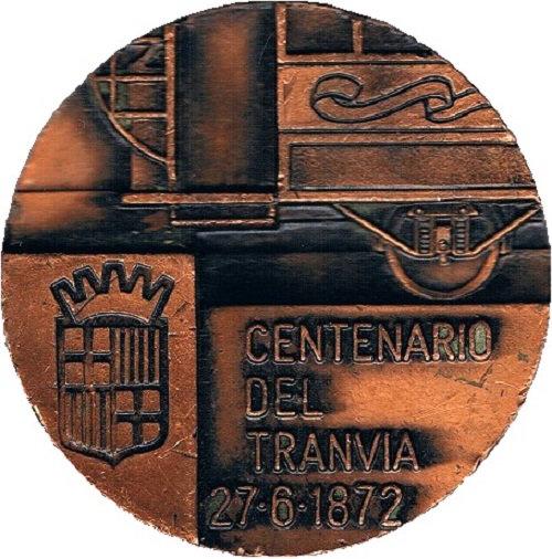 ESPAÑA. MEDALLA CENTENARIO DEL TRANVÍA DE BARCELONA. 1.972