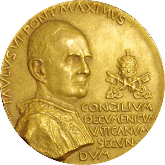 ESPAÑA. PABLO VI. MEDALLA CONCILIO VATICANO II. 1.964