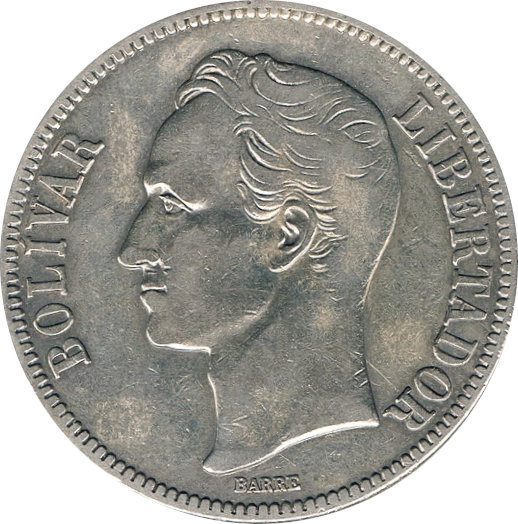 VENEZUELA. 5 BOLÍVARES 1.936