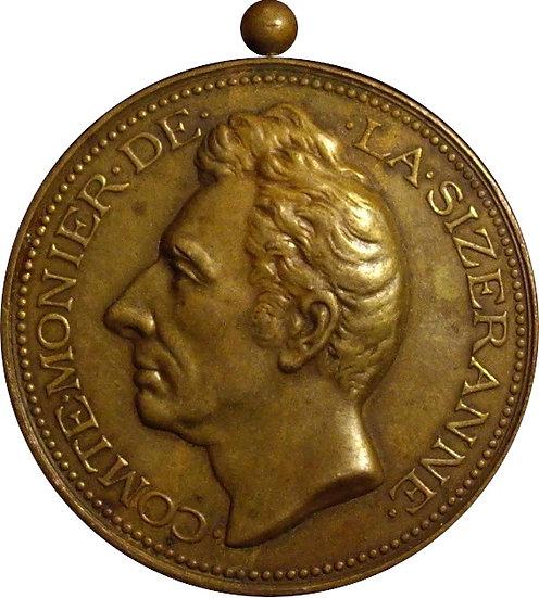 FRANCIA. MEDALLA HOMENAJE AL CONDE MONIER DE LA SIZERANNE. 1.878