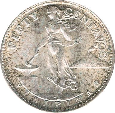FILIPINAS. 50 CENTAVOS 1.944