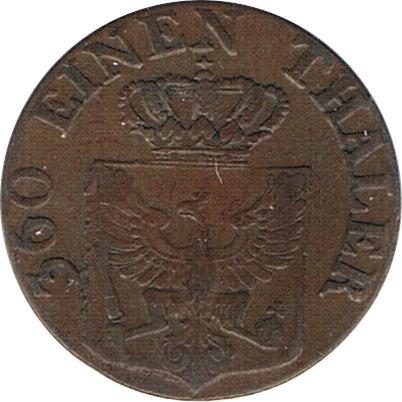 ESTADOS ALEMANES. PRUSIA. 1 PFENNING. 1.821. BERLÍN