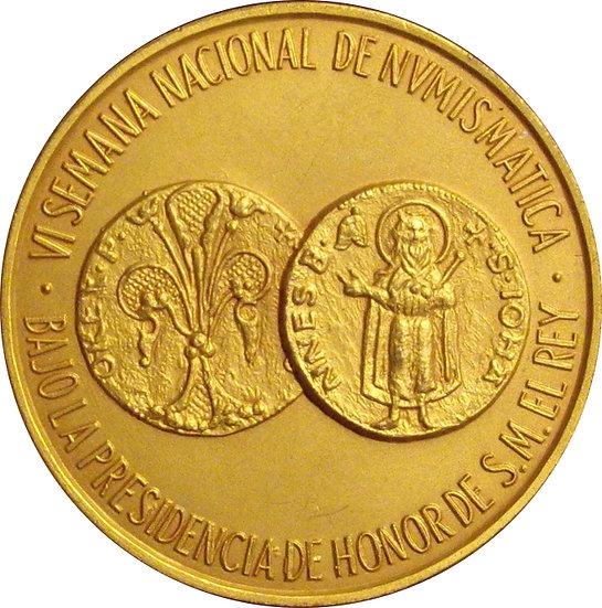ESPAÑA. MEDALLA VI SALÓN NACIONAL DE NUMISMÁTICA. BARCELONA 1.983