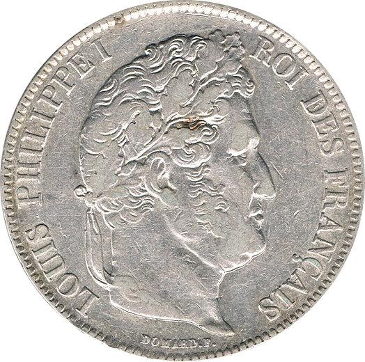 FRANCIA. LUIS FELIPE I, 5 FRANCOS 1.838 LILLE
