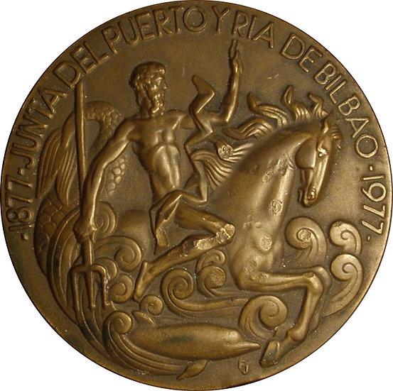 ESPAÑA. MEDALLA F.N.M.T. JUNTA PUERTO DE BILBAO. 1.977