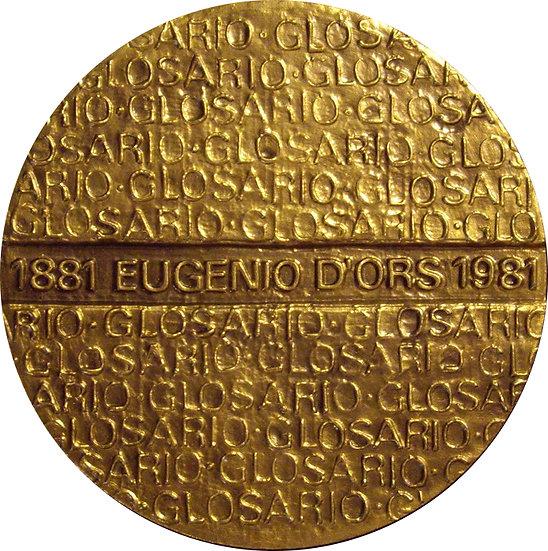 ESPAÑA. MEDALLA F.N.M.T. ESCRITOR EUGENIO D'ORS. 1.982