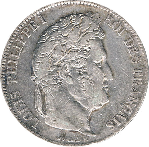 FRANCIA. LUIS FELIPE I, 5 FRANCOS 1.832 PARÍS