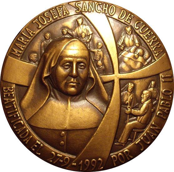 MEDALLA BEATIFICACIÓN MARIA JOSEFA SANCHO DE GUERRA. 1.992