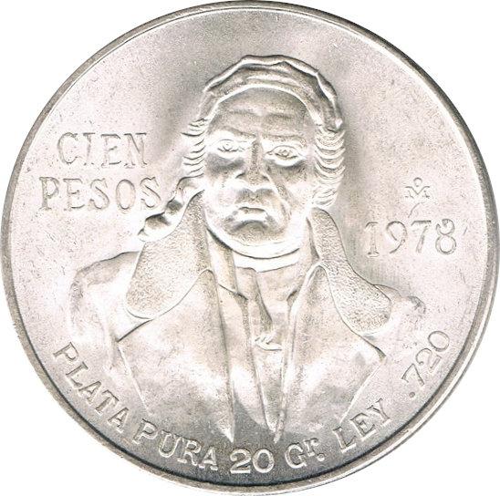 MÉXICO. 100 PESOS. 1.978