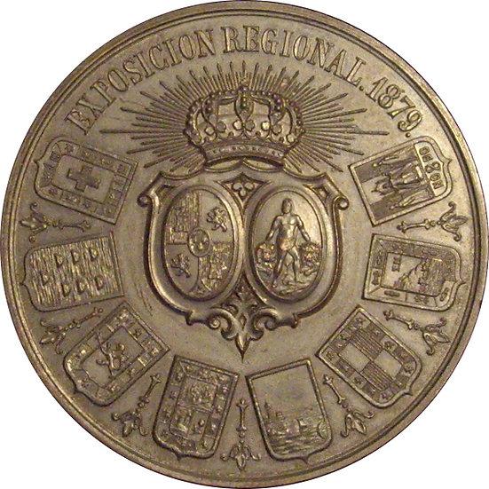 ESPAÑA. MEDALLA EXPOSICIÓN REGIONAL DE CÁDIZ 1.879