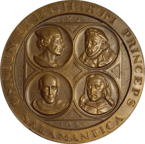ESPAÑA. MEDALLA F.N.M.T. VII CENTENARIO UNIVERSIDAD SALAMANCA. 1.954