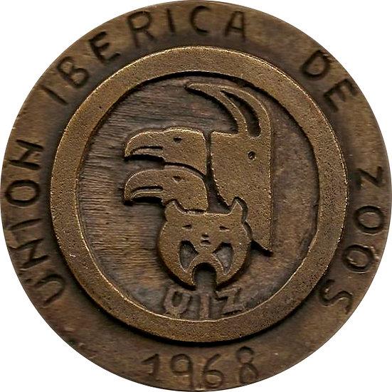 ESPAÑA. MEDALLA UNIÓN IBÉRICA DE ZOOS. 1968