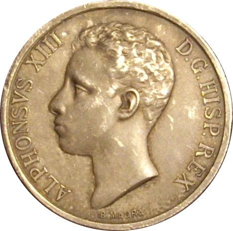 ALFONSO XIII. MEDALLA MAYORÍA DE EDAD. 1.902