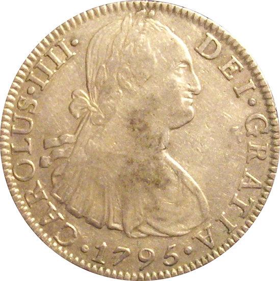 ESPAÑA. CARLOS IV. 8 REALES 1.795 MÉXICO
