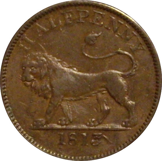 INGLATERRA. 1/2 PENNY TOKEN. 1.813. ESSEX BRITISH COPPER COMPANY