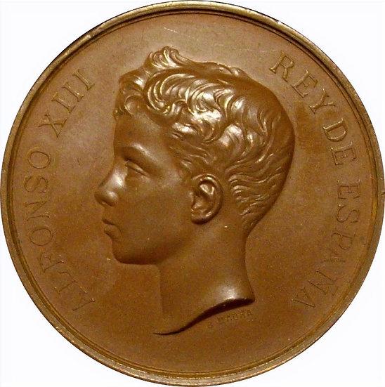 ALFONSO XIII. EXPOSICIÓN BELLAS ARTES MADRID. 1.897