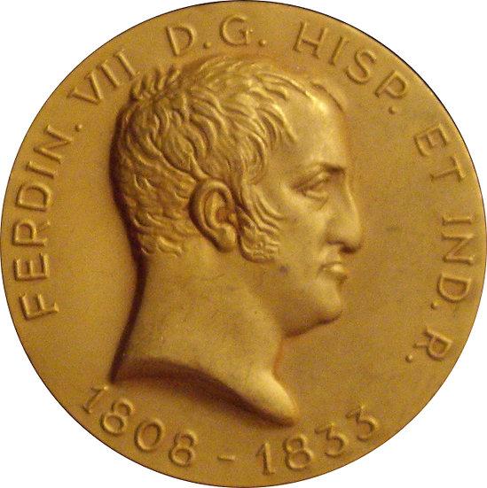 ESPAÑA. FERNANDO VII. MEDALLA CONMEMORATIVA. 1.963