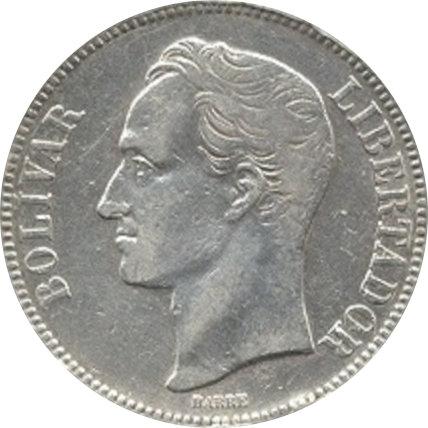 VENEZUELA. 5 BOLÍVARES 1.886