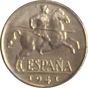 ESPAÑA. FRANCISCO FRANCO. 10 CÉNTIMOS 1.941