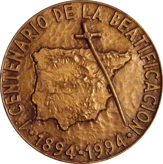 ESPAÑA. MEDALLA BEATIFICACIÓN FRAY DIEGO DE CÁDIZ. 1.994