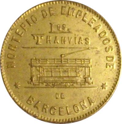 ESPAÑA. TRANVÍAS DE BARCELONA. 10 CÉNTIMOS. 1.916