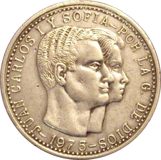 JUAN CARLOS I. MEDALLA DINASTÍAS ESPAÑOLAS . 1.975