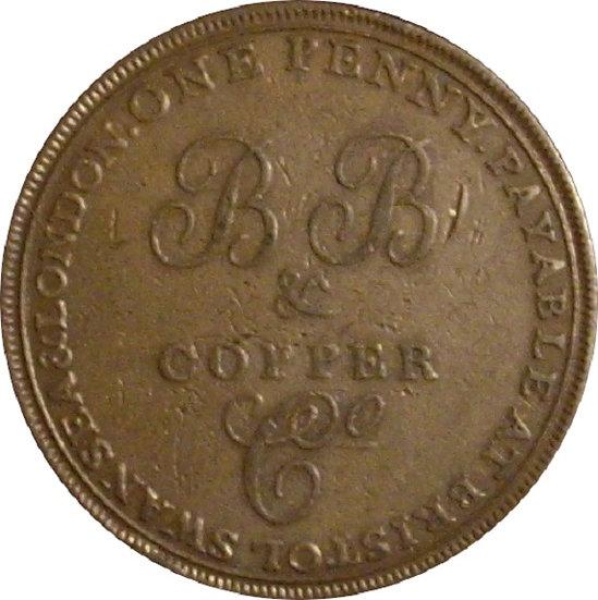 INGLATERRA. 1 PENNY TOKEN. 1.811. BB & COOPER Cº